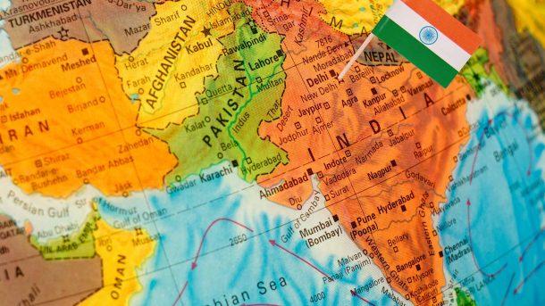 Mappa del Nord dell'India