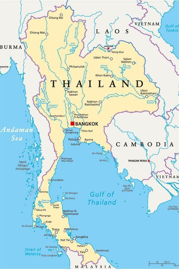 thailandia mappa
