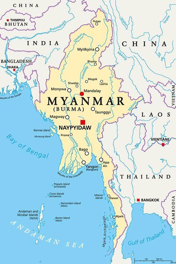 birmania cartina