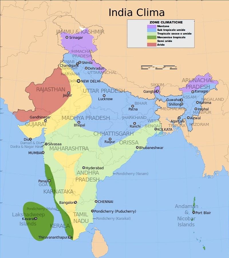 clima dell'india