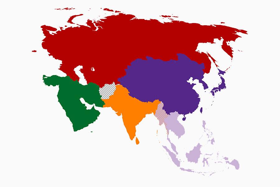 asia regioni